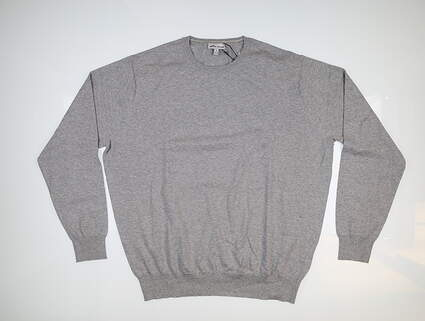 New Mens Peter Millar Crown Soft Sweater X-Large XL British Grey MS19S03 MSRP $145