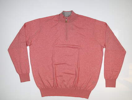 New Mens Peter Millar Crown Soft 1/4 Zip Sweater X-Large XL Vintage Pink MS17S12 MSRP $145