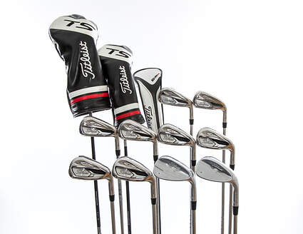 Titleist 718 AP1 TS Complete Golf Club Set Driver Fairway Hybrid Iron Set Wedges Right Handed Regular Steel MSRP $2,799.99