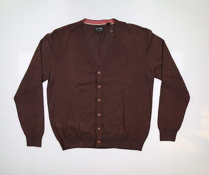 New Mens G-Mac McButton Cardigan Medium M Brown MSRP $80
