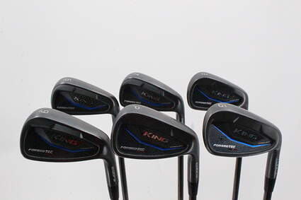 Cobra KING BLK Forged Tec One Length Iron Set 6-GW FST KBS $-Taper Black PVD Steel Stiff Right Handed 38.5in