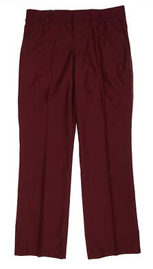 New Mens J. Lindeberg Troon Pants 36 x32 Wine MSRP $135