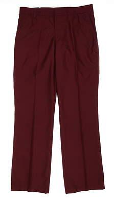 New Mens J. Lindeberg Troon Pants 32 x32 Wine MSRP $135