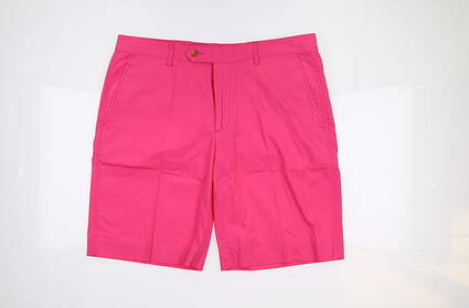 New Mens Fairway & Greene Flat Front Cotton Shorts 35 In the Pink D31185 MSRP $75