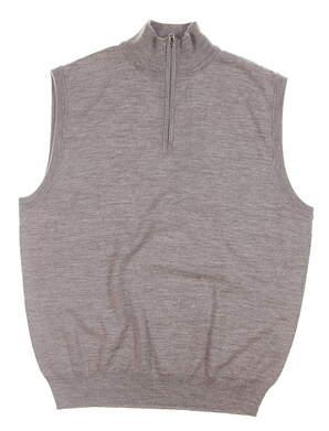 New Mens Ralph Lauren 1/4 Zip Sweater Vest Medium M Gray MSRP $125
