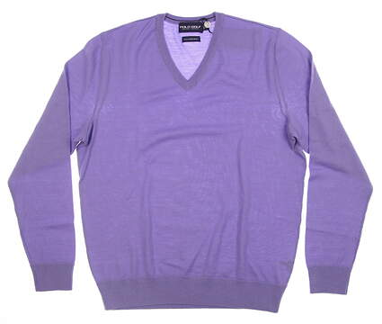 New Mens Ralph Lauren Golf Sweater X-Large XL Purple MSRP $150