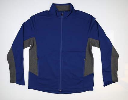 New Mens Cutter & Buck Navigate Soft Shell Jacket Large L Tour Blue MCO00038 MSRP $115