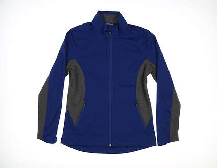 New Womens Cutter & Buck Navigate Softshell Jacket Medium M Tour Blue LCO00032 MSRP $115