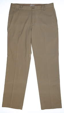 New Mens Nike Flat Front Tech Golf Pants 32x30 Khaki 472532 235 MSRP $80