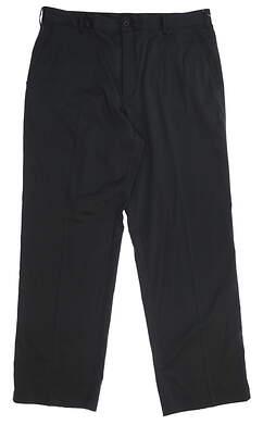 New Mens Nike Flat Front Tech Golf Pants 36x32 Black 319685 012 MSRP $75