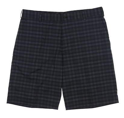 New Mens Nike Plaid Golf Shorts 35 Black 452712 MSRP $70