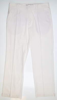 New Mens Nike Slim Fit Tech Golf Pants 35x30 White 398617 100 MSRP $75