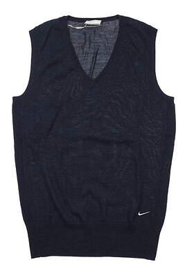 New Womens Nike Core Sweater Vest Medium M Navy Blue 483710 470 MSRP $85