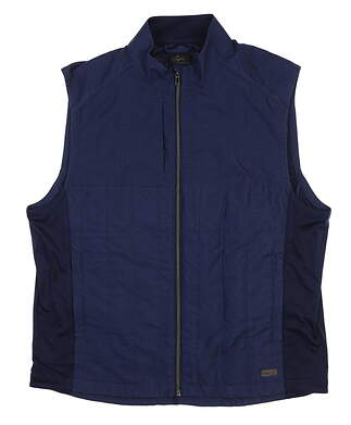 New Mens Greg Norman Crescent Quilted Full Zip Vest Large L Dark Night G7F8V680 MSRP $100