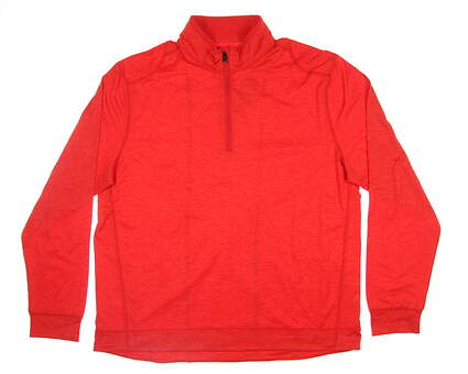 New Mens Greg Norman Break Heathered 1/4 Zip Pullover Large L Flash Red G7F8K960 MSRP $90
