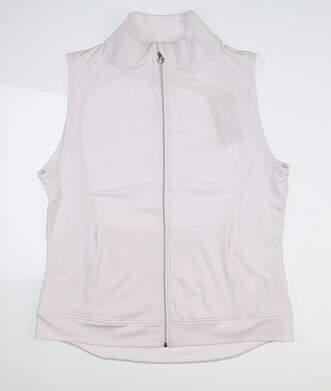 New Womens Sport Haley Harper Full Zip Vest Medium M White H19101VM MSRP $119