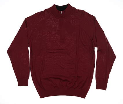 New Mens Ping Dunbar 1/4 Zip Sweater Large L Redwood S03131 MSRP $150