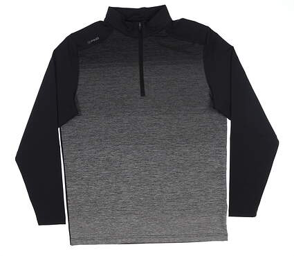 New Mens Ping Fracture 1/4 Zip Pullover Large L Black S03349 MSRP $109
