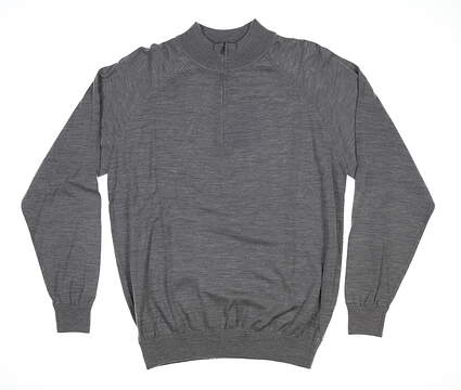 New Mens Ping Heaton 1/4 Zip Sweater Large L French Gray S03310 MSRP $150