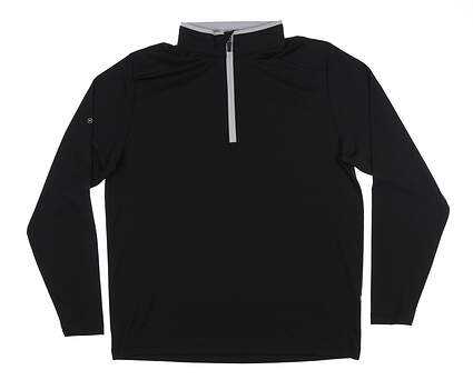 New Mens Ping Truman 1/4 Zip Pullover Large L Black P03285 MSRP $79