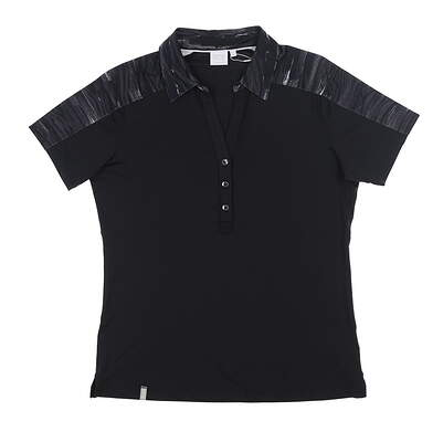 New Womens Ping Golf Polo 6 Black S93390 MSRP $65
