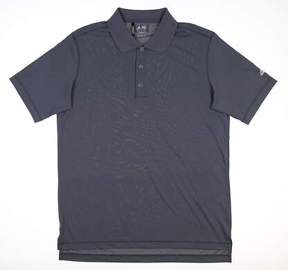 New Mens Adidas Polo Medium M Gray Z85726 MSRP $65