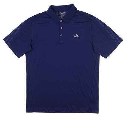 New Mens Adidas Climacool Sport Polo Medium M Blue B22273 MSRP $65