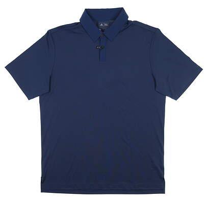 New Mens Adidas Polo Medium M Blue B83170 MSRP $65