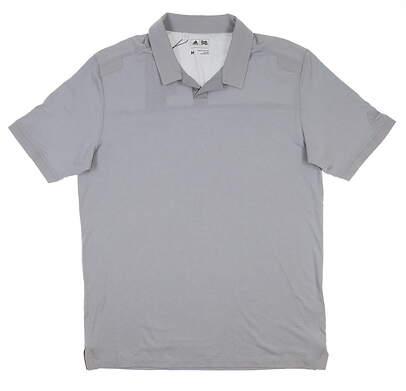 New Mens Adidas Golf Polo Medium M Gray B81933 MSRP $65