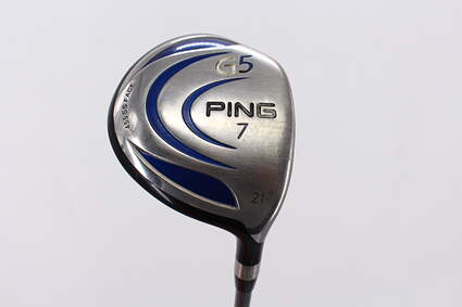 Ping G5 Fairway Wood 7 Wood 7W 21° Ping TFC 100F Graphite Regular Right Handed 42.5in