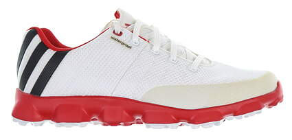 New Mens Golf Shoe Adidas Crossflex Medium 13 White/Red 676017 MSRP $100
