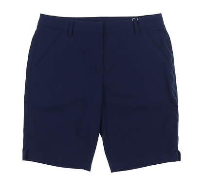 New Womens Puma Golf Shorts 8 Navy Blue TC7714 MSRP $71