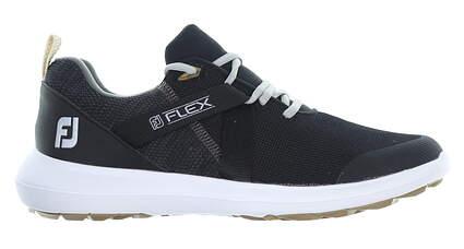 New Mens Golf Shoe Footjoy FJ Flex Medium 9.5 Black 56103 MSRP $90