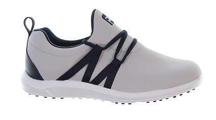 New Womens Golf Shoe Footjoy Leisure Slip On 8.5 Wide Gray/Navy 92909 MSRP $100