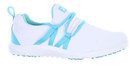 New Womens Golf Shoe Footjoy Leisure Slip On Medium 10 White/Blue 92908 MSRP $100
