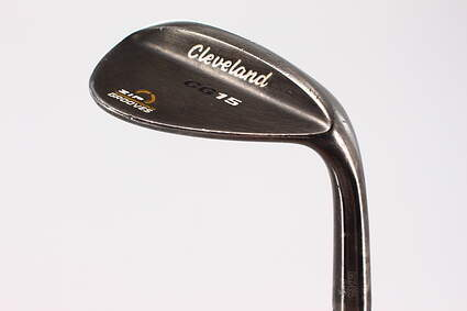 Cleveland CG15 Black Pearl Wedge Lob LW 60° 12 Deg Bounce Cleveland Traction Wedge Steel Wedge Flex Right Handed 35.5in
