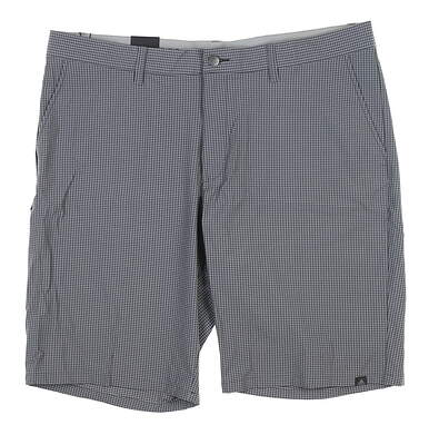 New Mens Adidas Ultimate 365 Gingham Shorts 40 Carbon CD9883 MSRP $80