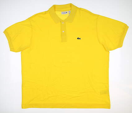 New Mens Lacoste Golf Polo 4X-Large 4XL Yellow MSRP $90