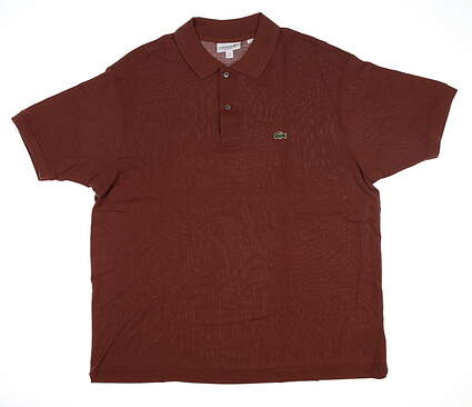 New Mens Lacoste Golf Polo XX-Large XXL Cevennes Brown MSRP $90