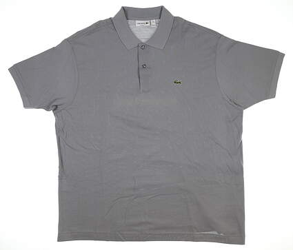 New Mens Lacoste Golf Polo 4X-Large 4XL Platinum MSRP $90