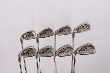 Ping i3 Oversize Iron Set 5-PW GW SW Stock Steel Shaft Steel Stiff Left Handed Maroon Dot 38.25in
