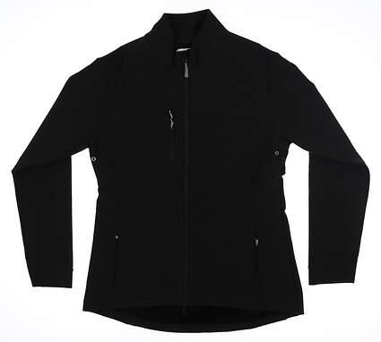 New Womens Peter Millar Rachel Soft Shell Jacket Medium M Black LF17EZ05 MSRP $109.50