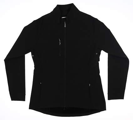 New Womens Peter Millar Rachel Soft Shell Jacket Small S Black LF17EZ05 MSRP $109.50