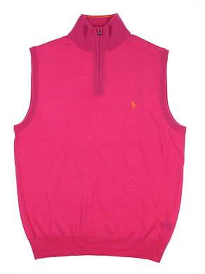 New Mens Polo Golf Ralph Lauren Sweater Vest Medium M Pink MSRP $90