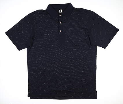 New Mens Footjoy Baby Pique Dash Polo Large L Navy Blue 25656 MSRP $75