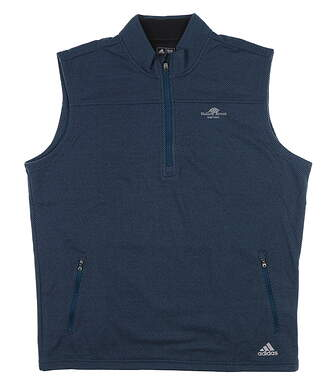 New W/ Logo Mens Adidas Sweater Vest Large L Blue BC5412 MSRP $70