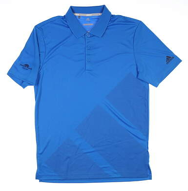 New W/ Logo Mens Adidas Golf Polo Small S Blue MSRP $55