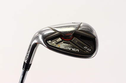 TaylorMade Burner 2.0 HP Single Iron Pitching Wedge PW Stock Steel Shaft Regular Left Handed 35.75in