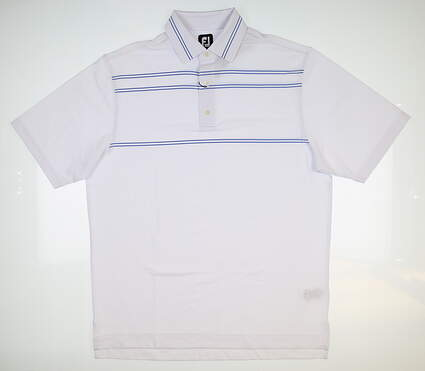 New Mens Footjoy Polo Large L White 25675 MSRP $75