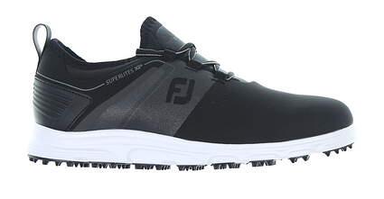 New Mens Golf Shoe Footjoy SuperLites XP 9.5 Medium Black 58066 MSRP $100